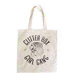 Glitter Box Girl Gang Tote designed by local artist Katie Barroso