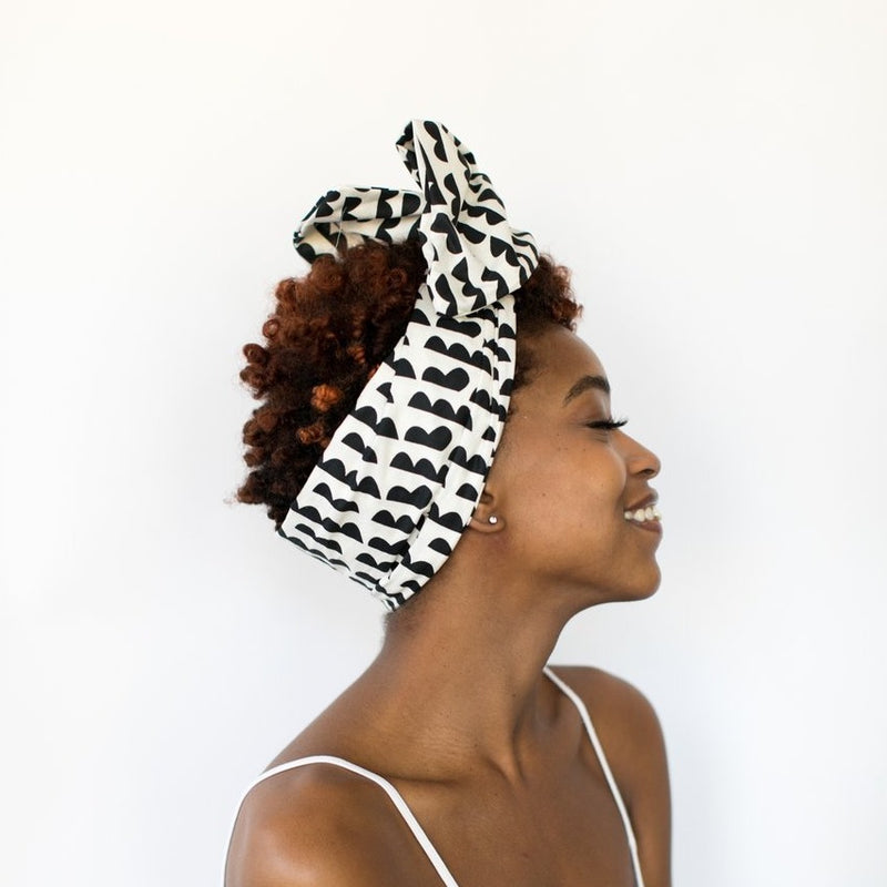 Head wraps with aluminum wire by Fringe + Co