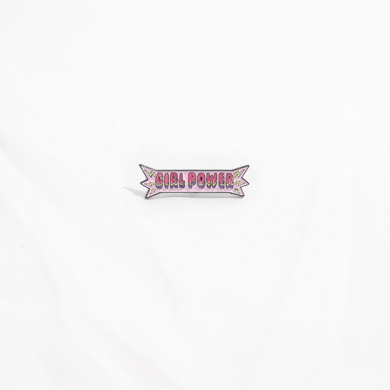 Girl Power Enamel Pin by the Glitter Box Girl Gang