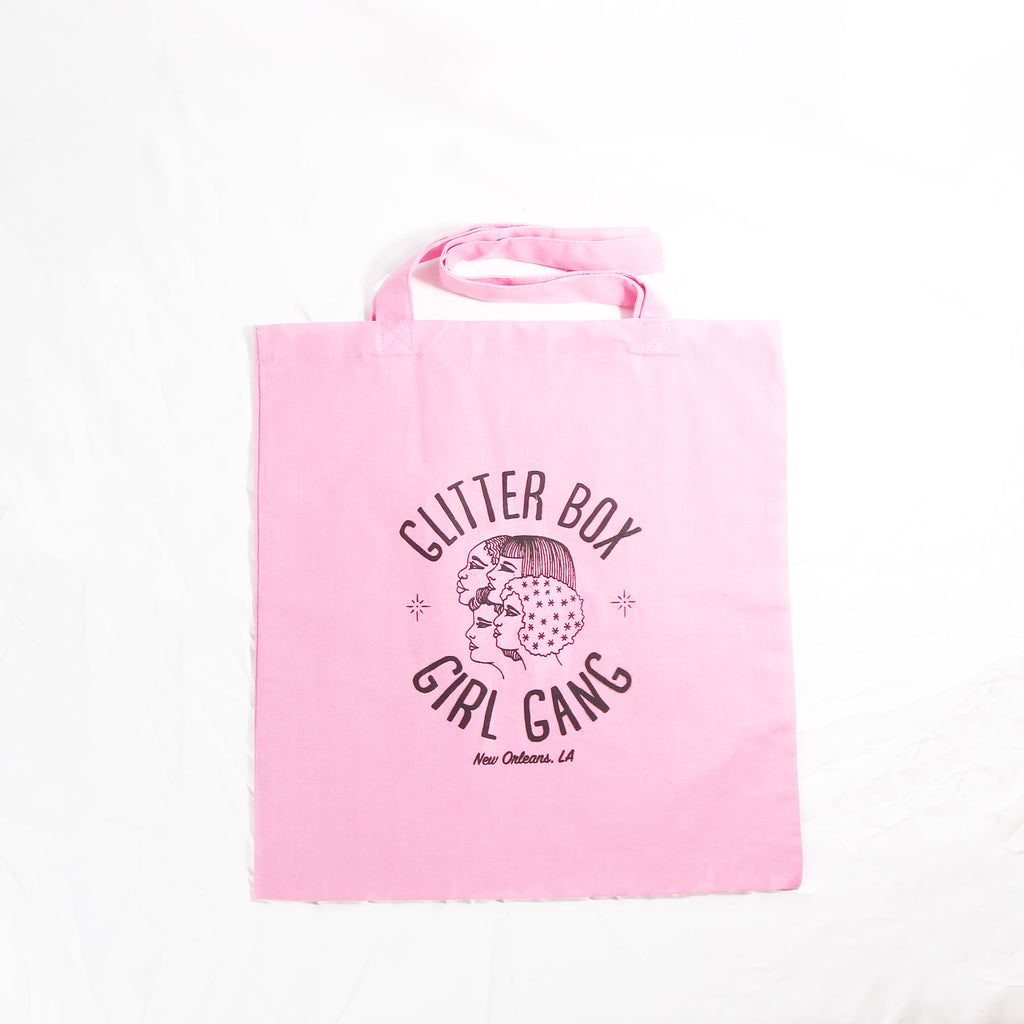 Pink Glitter Box Girl Gang Tote by Glitter Box Goods