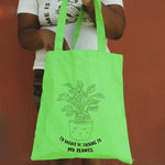 I'd Rather Be Talking to my Plants Tote Bag by the Glitter Box