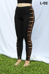 Ludasigns black leggings tiedye bleack
