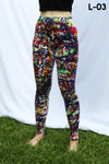rainbow confetti party leggings by ludasigns