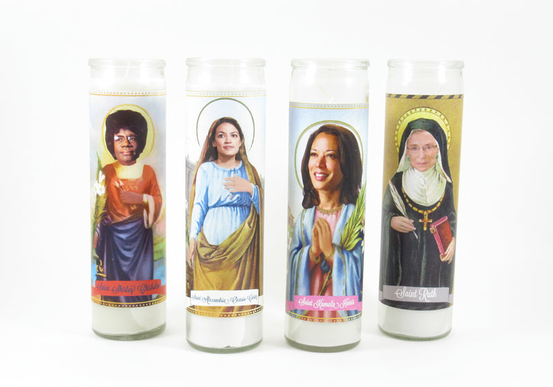 Politicians Saint Candles by Mose Mary & Me