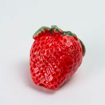 Strawberry ceramic joint holder by ficus ceramica