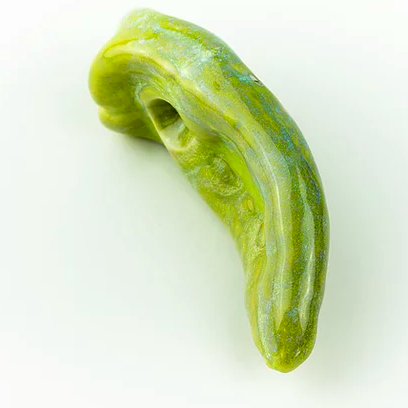Poblano Green Large Pepper Ficus Ceramica Porcelain Pipe