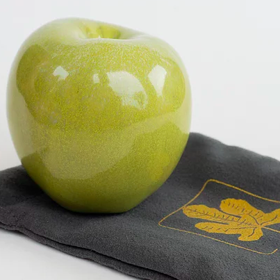 green apple ceramic pipe by ficus ceramica