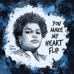 stacey abrams badass women valentine notecard by us & we art