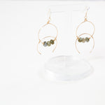 Mad bohiam double hoop earrings with labradoriate