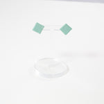 SeaFoam Square Ceramic Earings by Danny Desire