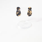 Ceramic Earrings by Danny Desire in Black with Gold Splatter Luster