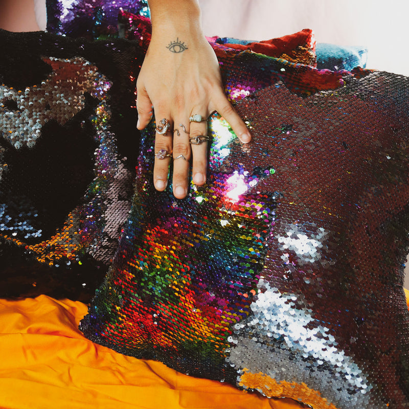 color changing sequin pillows by the glitterbox gilrl gang