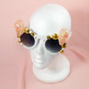 Alligator Pear Goods sunglasses bedazzled with handmade resin skulls and jewels