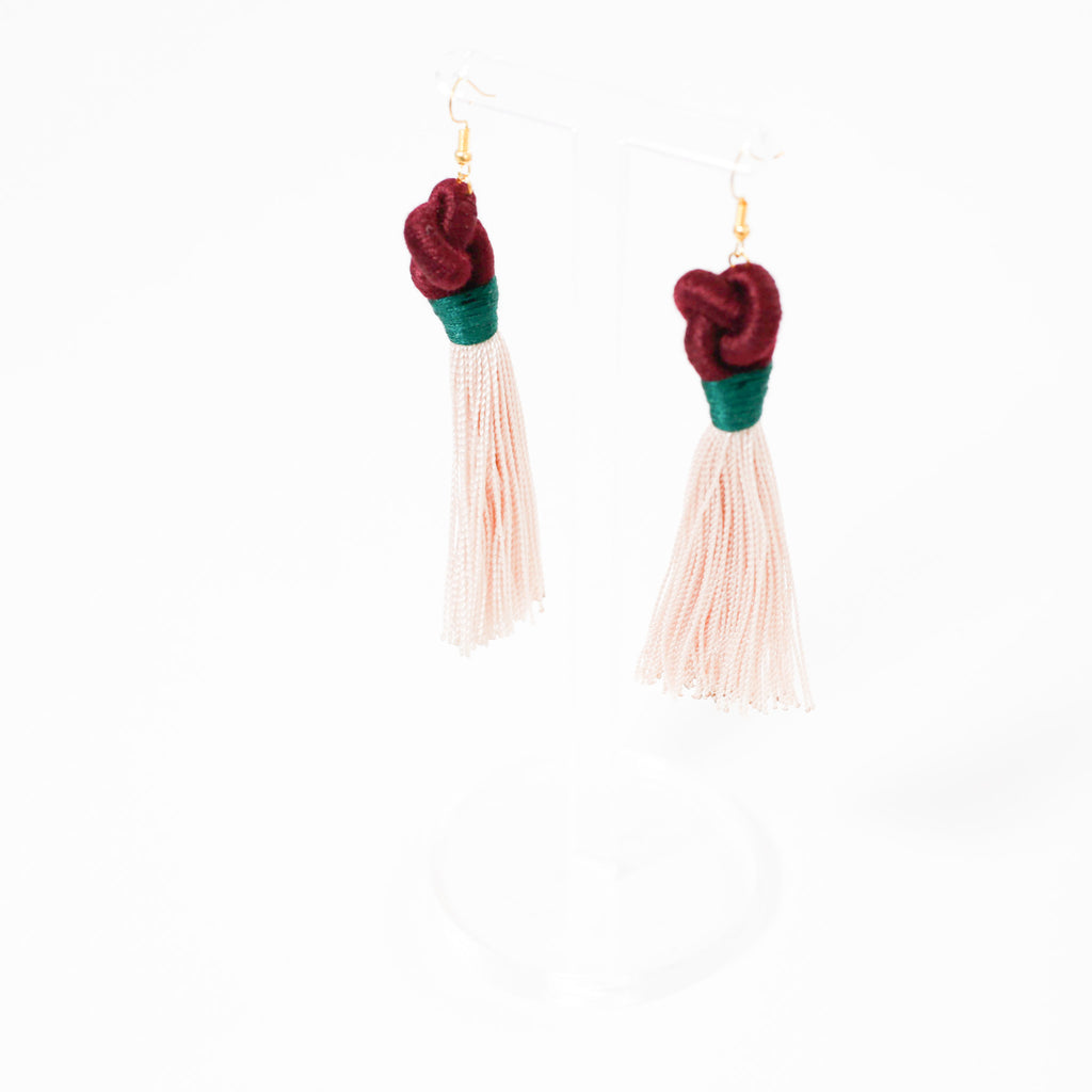 Knot Tassel Earrings by Swiet Stuff