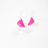 pink haireola felt earrings by hairydena