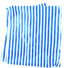 Head wraps with aluminum wire by Fringe + Co in white and blue stripes