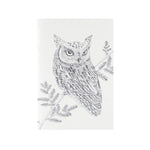 Blank journals or sketchbooks with owl illustration on cover by Magda Boreyza
