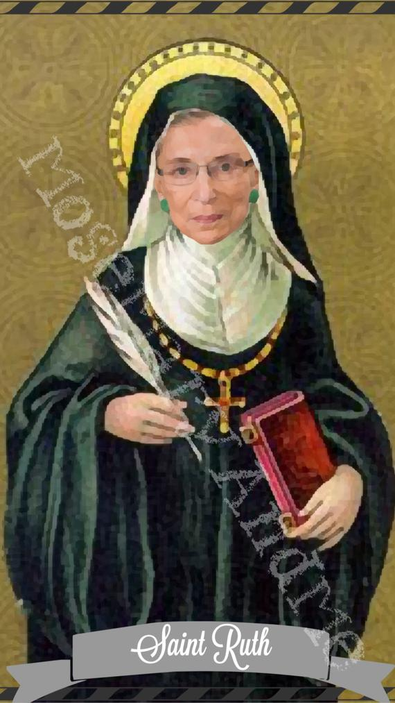 Ruth Bader Ginsburg Saint Candles by Mose Mary & Me
