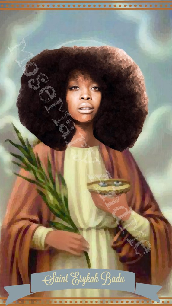 Erykah Badu Saint Candles by Mose Mary & Me