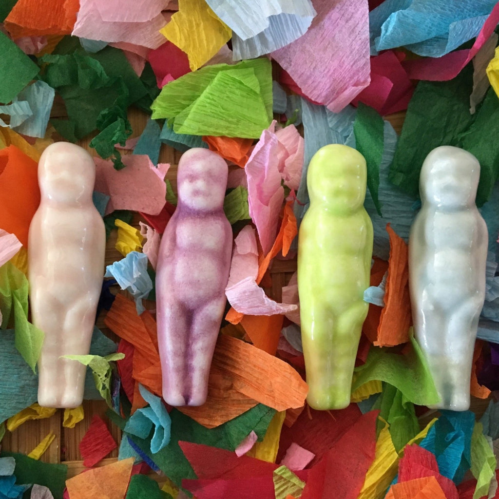 Ceramic King cake babies in various colors