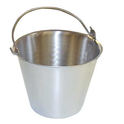 Premium Stainless Steel Pail, Vet/Milk Bucket, Made in USA, Completely Seamless & Thick