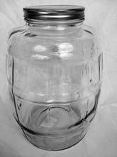 Anchor Hocking Glass Barrel Jar with Lid, 2.5 Gallon