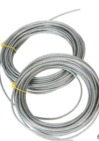 Heavy Duty Galvanized Vinyl Coated Clothesline Cable,  7x19