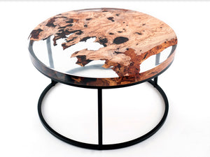 Modern Zeytin 90 Coffee Table, Resin Coffee Table - Naturalist USA