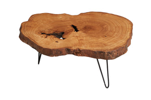 Ash Tree Live Edge Coffee Table, Live Edge Table, Rustic Edge End Table - Naturalist USA
