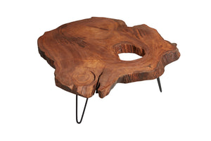 Chestnut Live Edge Coffee Table, Live Edge Table, Rustic Edge End Table - Naturalist USA
