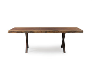 Iroko African Live Edge Dining Dining Table - Naturalist USA
