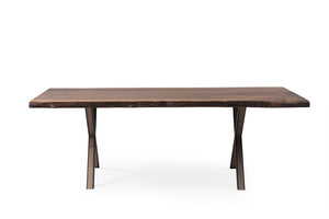Walnut 220 Live Edge Dining Table - Naturalist USA