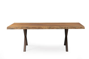Iroko 220 African Live Edge Dining Dining Table - Naturalist USA