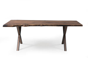 Walnut 210 Live Edge Dining Table - Naturalist USA