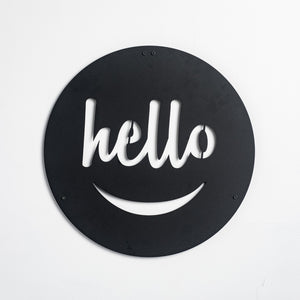 Hello - Metal Wall Art - Naturalist USA