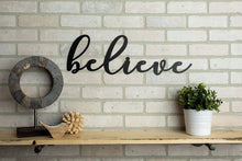Load image into Gallery viewer, Believe Metal Sign Home Decor