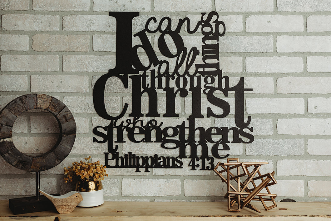*Ready To Ship* I Can Do All Things Through Christ - Philippians 4:13 Wall Art