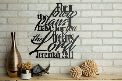 For I Know the Plans I Have For You - Jeremiah 29:11 Wall Art