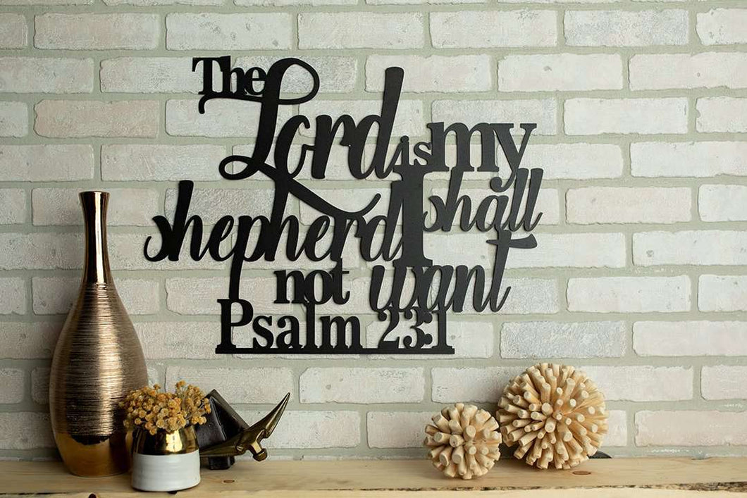 Psalm 23:1 - The Lord is My Shepherd Wall Art