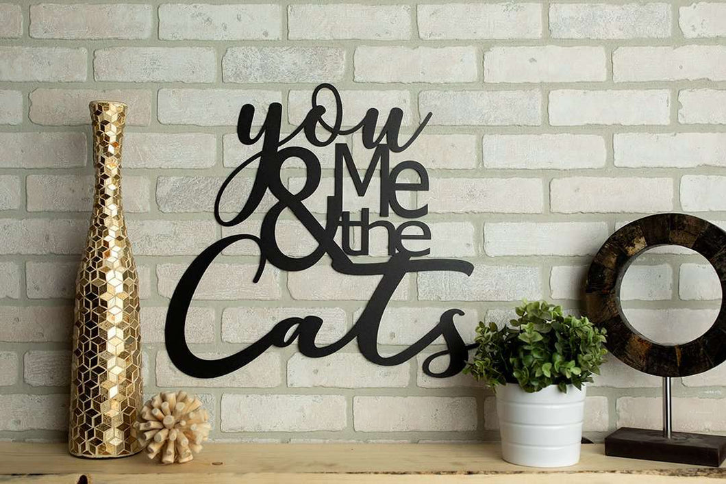 You Me and The Cats Metal Wall Art