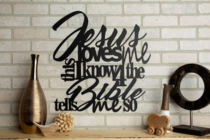 Jesus Loves Me Wall Art