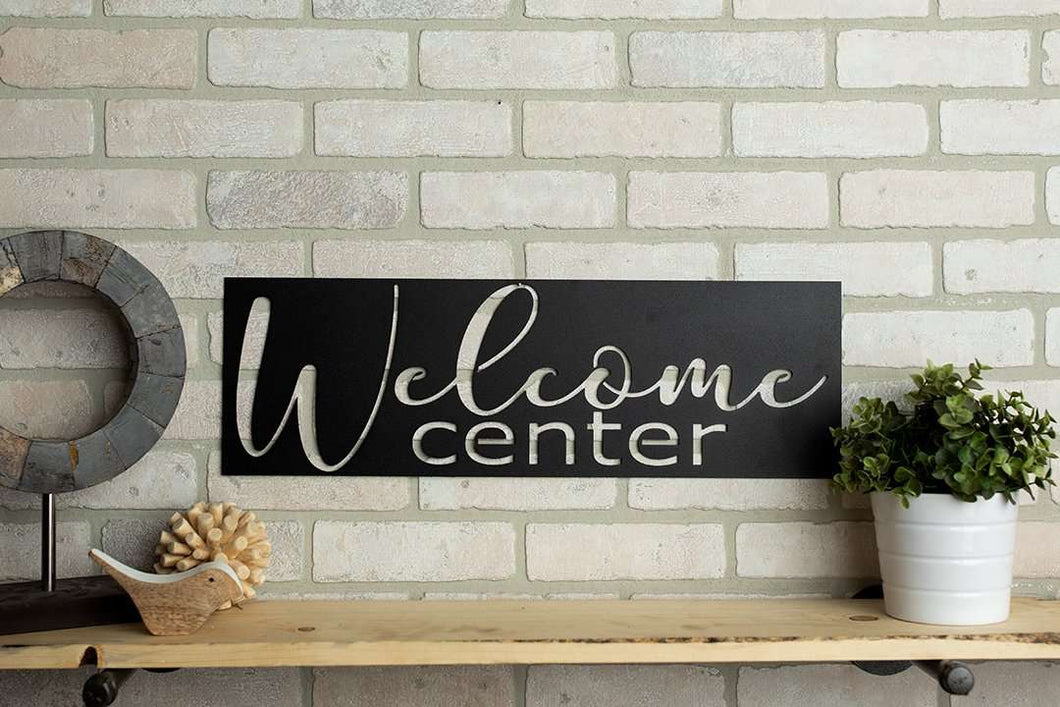 Welcome Center Metal Home Decor Sign