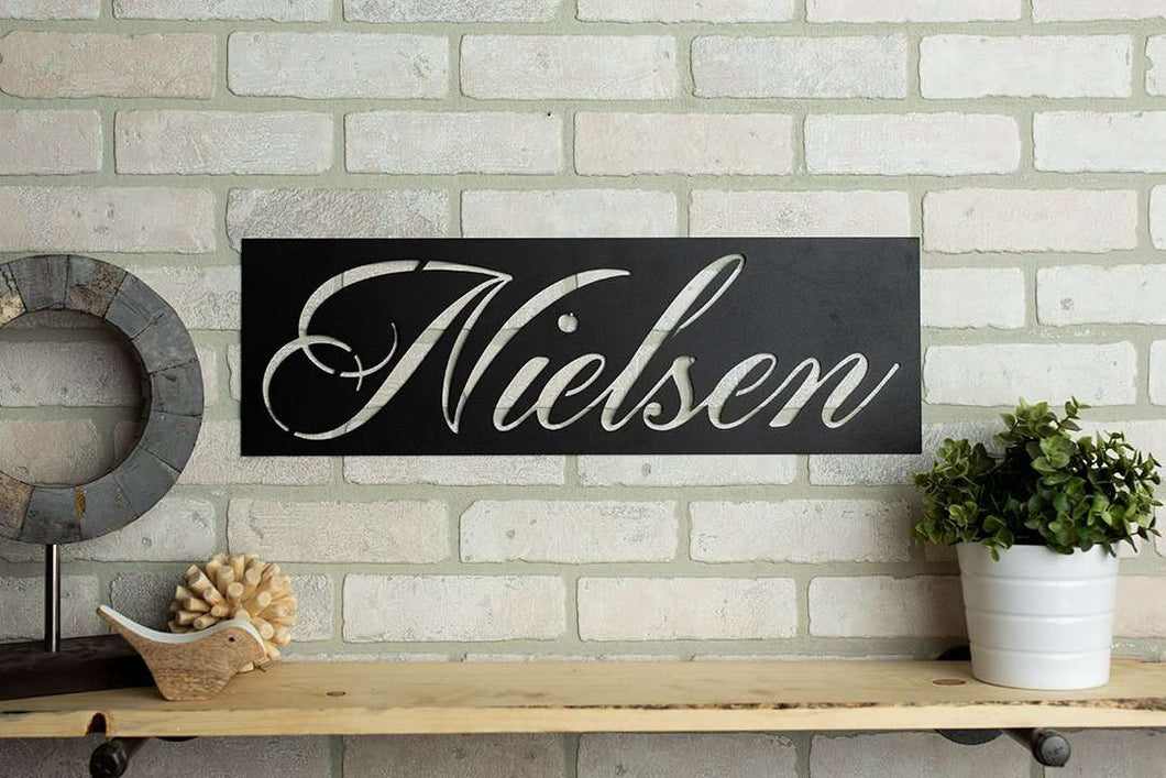 Custom Name Rectangle Metal Home Décor