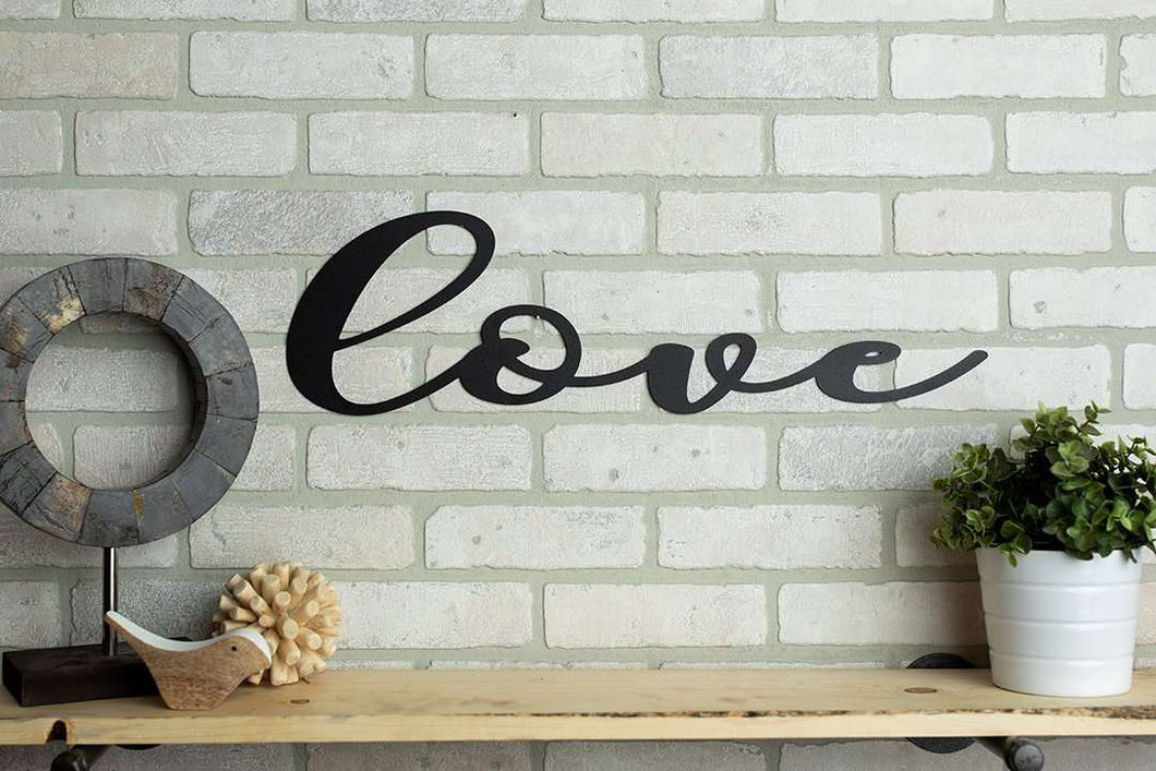 Love Metal Sign Home Décor