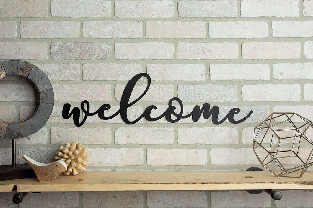 Welcome Metal Sign Home Décor
