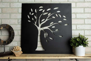 "24x24"" Leafy Tree Wall Metal Art"