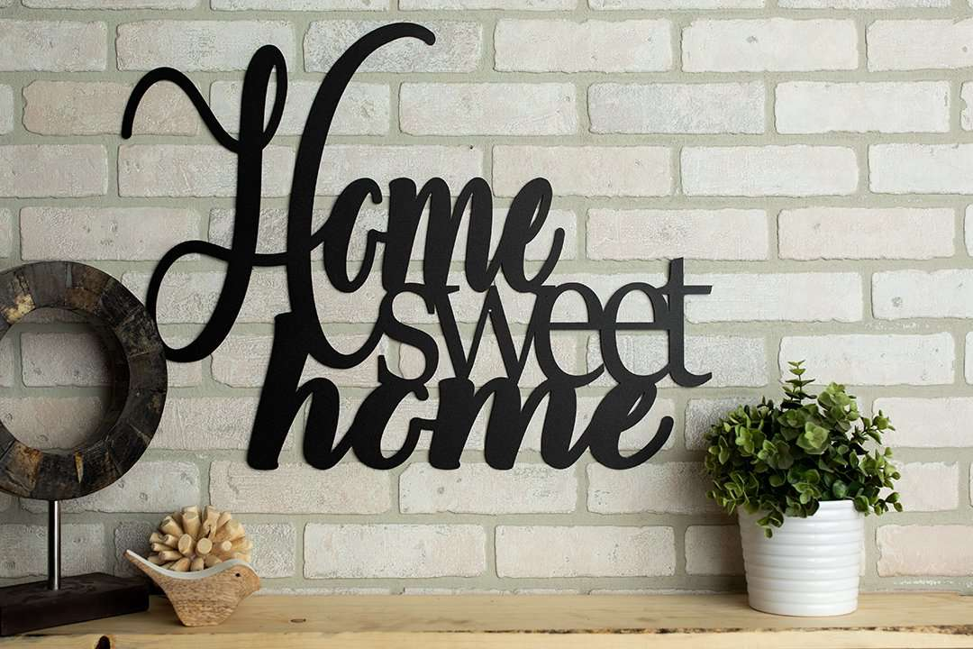 Home Sweet Home Metal Wall Art Creative Metal Signs Metal Shack The Metal Shack