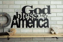 Load image into Gallery viewer, God Bless America Metal Sign