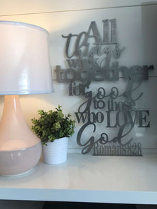 All Things Work Together For Good - Romans 8:28 Wall Art