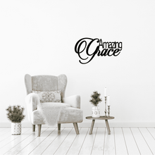 Amazing Grace Metal Home Decor Sign